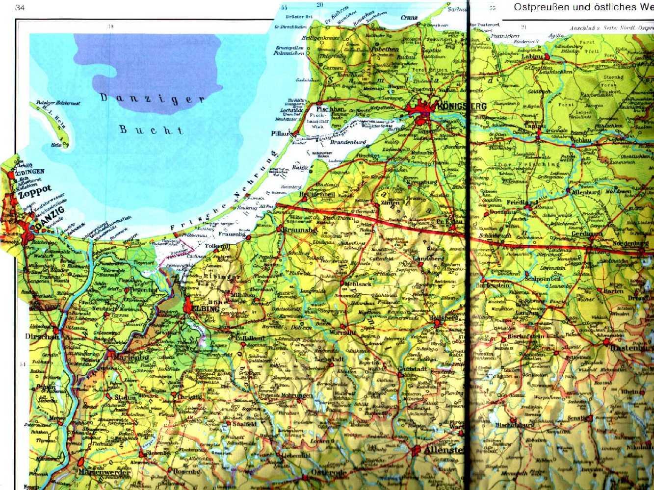 Karte Ostpreußen.Forschung Pettelkau Inhaltsverzeichnis Research Pettelkau Page
